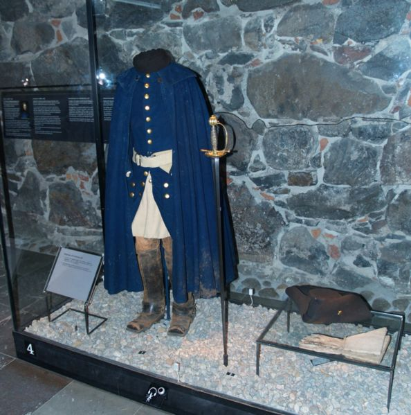 Karl XII:s uniform som han bar när han dog