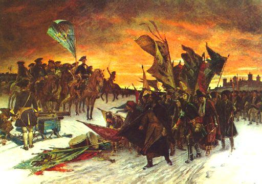 Segern vid Narva, målning av Gustaf Cederström från 1910